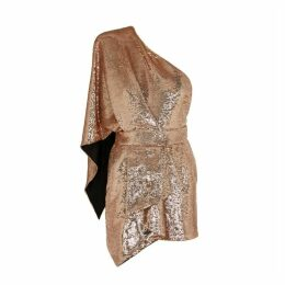 Alexandre Vauthier Rose Gold Sequin Mini Dress