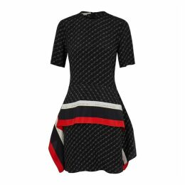 Stella McCartney Black Monogrammed Silk Dress