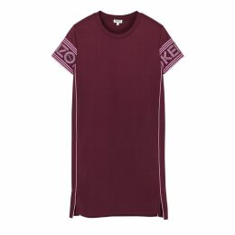 Kenzo Burgundy Logo-print Cotton T-shirt Dress