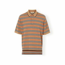 Burberry Icon Stripe Merino Wool Polo Shirt