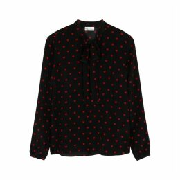 RED Valentino Heart-print Silk Blouse