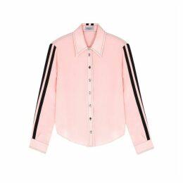 Serena Bute Serena Light Pink Striped Silk Shirt
