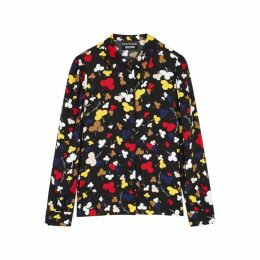 Boutique Moschino Black Club-print Blouse