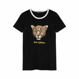 Dolce & Gabbana Leopard-appliquéd Cotton T-shirt