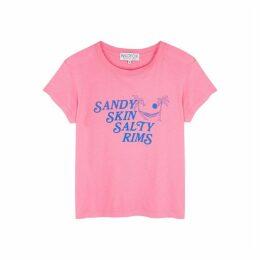 Wildfox Sandy Skin Salty Rims Cotton T-shirt