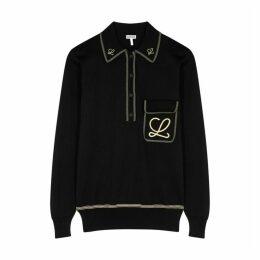 Loewe Black Embroidered Cotton Sweatshirt
