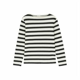 Saint Laurent Striped Cotton Sweatshirt