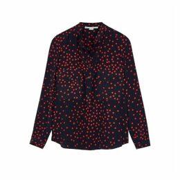 Stella McCartney Navy Printed Silk Blouse