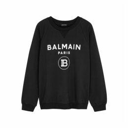 Balmain Black Logo Cotton Sweatshirt