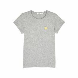 Rag & Bone Heart Grey Pima Cotton T-shirt