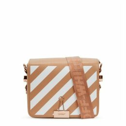 Off-White Diag Blush Leather Shoulder Bag