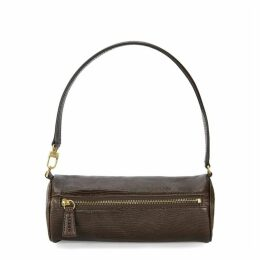 STAUD Suzy Brown Leather Shoulder Bag