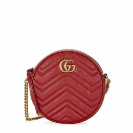 Gucci GG Marmont Red Leather Shoulder Bag