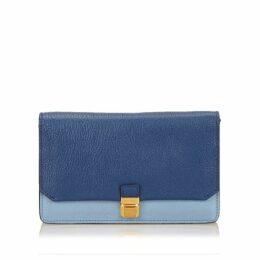 Miu Miu Blue Leather Shoulder Bag