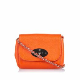 Mulberry Orange Leather Lily Crossbody Bag
