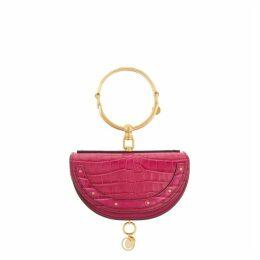 Chloé Nile Pink Leather Minaudiére Clutch
