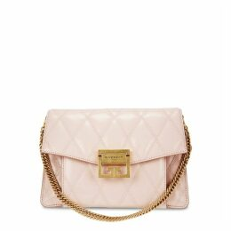 Givenchy GV3 Small Pink Quilted Leather Cross-body Bag
