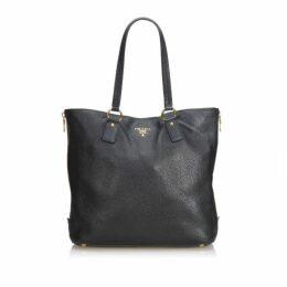 Prada Black Vitello Daino Tote Bag