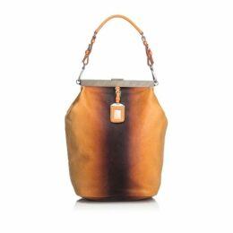 Prada Brown Leather Ombre Shoulder Bag