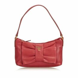 Prada Pink Leather Bow Baguette