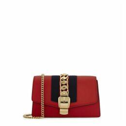 Gucci Sylvie Super Mini Leather Clutch