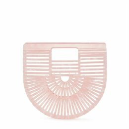 Cult Gaia Ark Mini Powder-pink Marbled Clutch