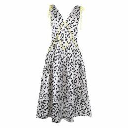 Self Portrait Leopard Print Midi Dress