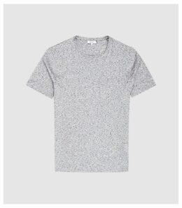 Reiss District - Melange Crew Neck T-shirt in Grey, Mens, Size XXL