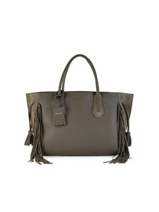 Fringe Leather & Suede Tote
