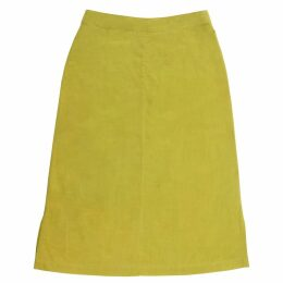 Birdsong - Green A-Line Khadi Cotton Skirt