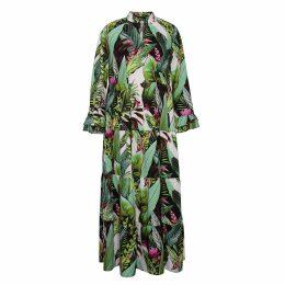 Vols & Original - Jungle Crepe Tiered Maxi Dress