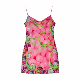 Camille Defago - Neon Scorpion Short Slip Dress