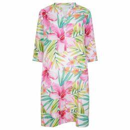 Libelula - Long Millie Dress Green Flower Splat Print