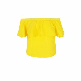 Libelula - Delphine Top Green Flower Splat Print