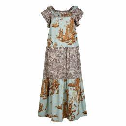 Klements - Laura Prairie Dress In Cursed Civilisation Abandoned Village Print Mix
