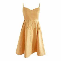 esfera. - Sustainable Sun Dress In Butter Yellow