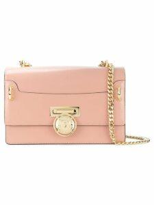 Balmain gold-tone coin clasp shoulder bag - Pink
