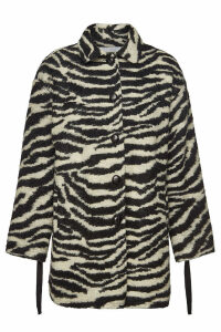 Iro Bera Printed Coat with Mohair and Wool