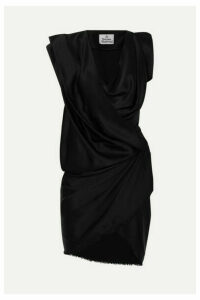 Vivienne Westwood - River Draped Satin Mini Dress - Black