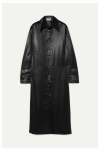 Acne Studios - Dimara Satin Shirt Dress - Black