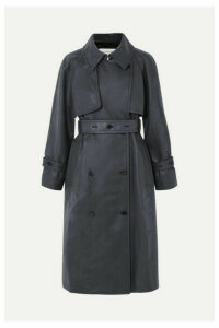 Golden Goose - Masami Belted Faux Leather Trench Coat - Navy