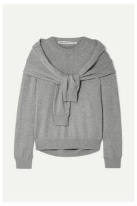 Alexander Wang - Tie-front Knitted Sweater - Gray
