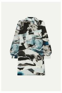 Alexander McQueen - Printed Silk Crepe De Chine Mini Dress - Blue