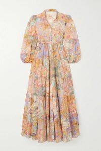 Lela Rose - Grosgrain-trimmed Cotton-blend Poplin Midi Dress - Red