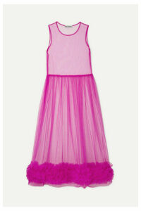 Molly Goddard - Alison Ruffled Tulle Midi Dress - Pink