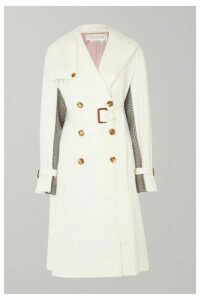 Alexander McQueen - Belted Cotton-gabardine And Houndstooth Wool Trench Coat - Ivory