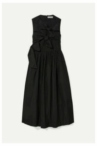 Molly Goddard - Iona Knotted Taffeta Midi Dress - Black