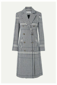 Loewe - Checked Linen Coat - Blue