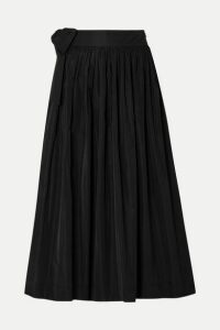 Molly Goddard - So Hee Tie-detailed Gathered Taffeta Midi Skirt - Black