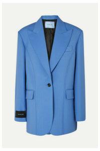 Mugler - Oversized Grain De Poudre Wool Blazer - Blue